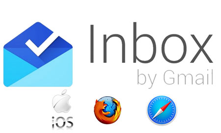 Google Inbox su tablet, Safari e Firefox