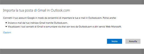 Come passare da Gmail ad Outlook