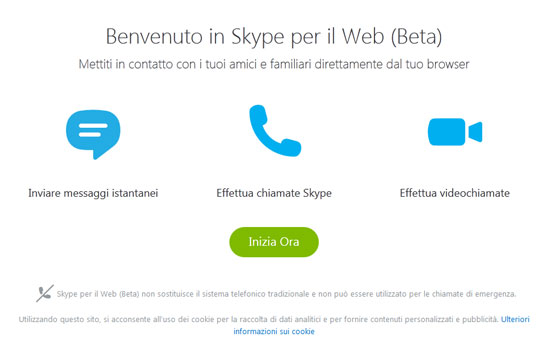 Lo Skype alternativo a portata di browser!