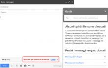Gmail bloccare gli allegati file JavaScript
