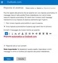 Outlook.com (Hotmail) Risposta automatica